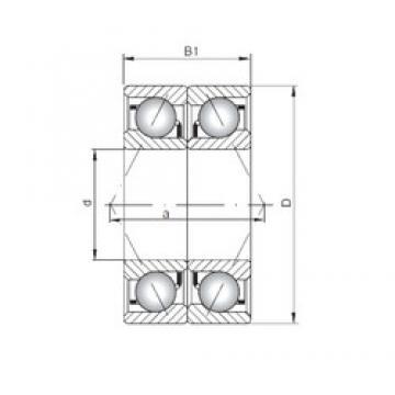 ISO 7203 CDB Rolamentos de esferas de contacto angular