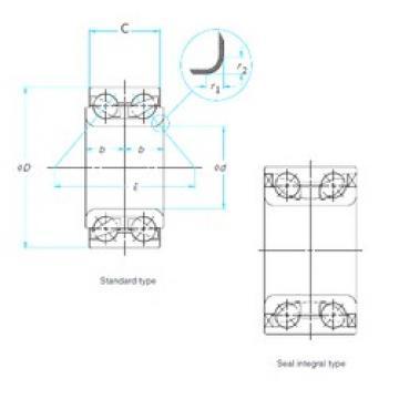 42 mm x 80 mm x 45 mm  ISO DAC42800045 Rolamentos de esferas de contacto angular