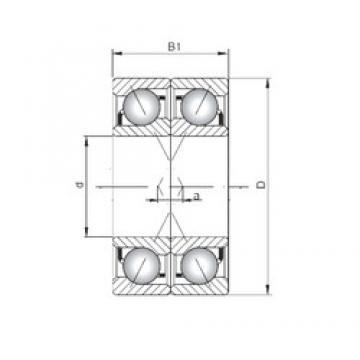 ISO 7010 BDF Rolamentos de esferas de contacto angular