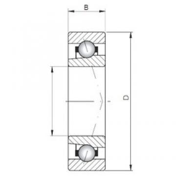 ISO 71830 A Rolamentos de esferas de contacto angular