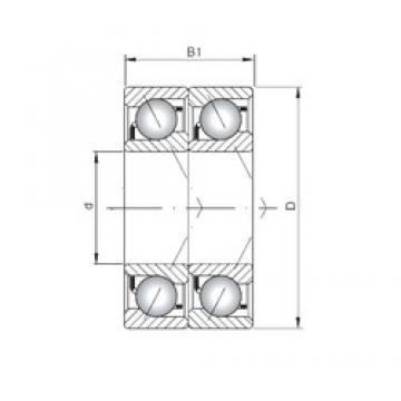 ISO 7201 BDT Rolamentos de esferas de contacto angular