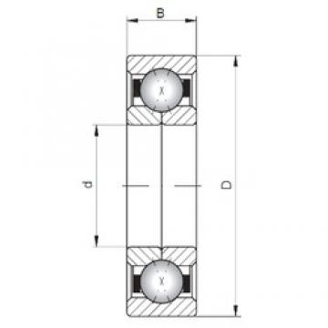 ISO QJ322 Rolamentos de esferas de contacto angular