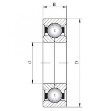 ISO QJ328 Rolamentos de esferas de contacto angular