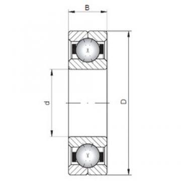 ISO Q1092 Rolamentos de esferas de contacto angular