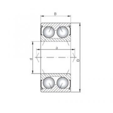 ISO 3000 ZZ Rolamentos de esferas de contacto angular