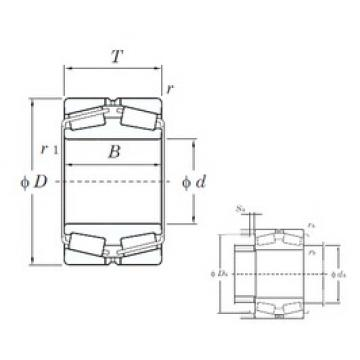 420 mm x 700 mm x 224 mm  KOYO 45384 Rolamentos de rolos gravados