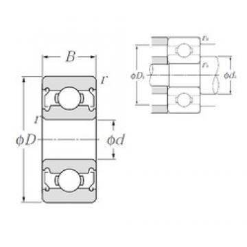 3 mm x 9 mm x 4 mm  NTN BC3-9ZZA Rolamentos de esferas profundas
