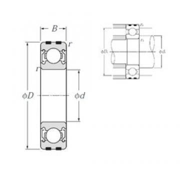 30 mm x 55 mm x 13 mm  NTN EC-6006ZZ Rolamentos de esferas profundas