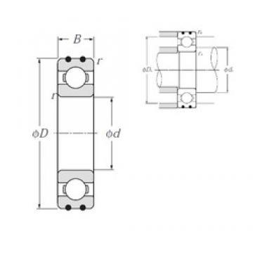 40 mm x 80 mm x 18 mm  NTN AC-6208 Rolamentos de esferas profundas