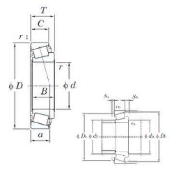KOYO HM89446/HM89411 Rolamentos de rolos gravados