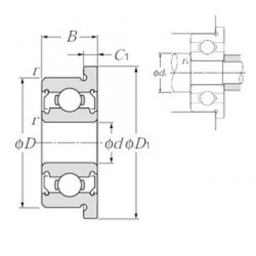 8 mm x 14 mm x 4 mm  NTN FLBC8-14ZZ Rolamentos de esferas profundas