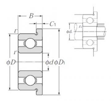 7 mm x 11 mm x 2,5 mm  NTN FL677 Rolamentos de esferas profundas