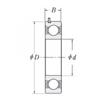32 mm x 62 mm x 16 mm  NTN 6206B/32C4 Rolamentos de esferas profundas