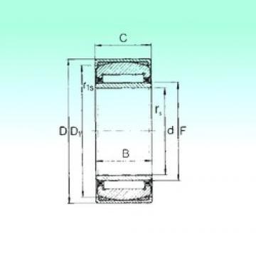 12 mm x 28 mm x 12 mm  NBS PNA 12/28 Rolamentos de agulha