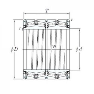 KOYO 4TRS559J Rolamentos de rolos gravados