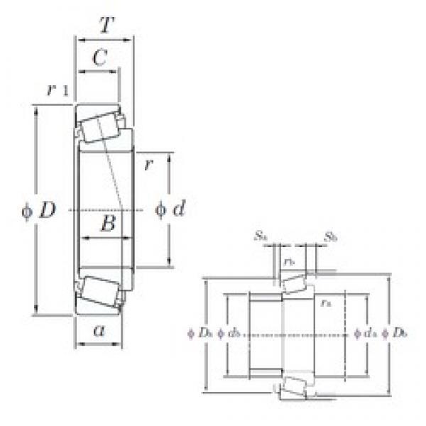 50 mm x 101 mm x 20 mm  KOYO TR101002/1BLFT Rolamentos de rolos gravados #5 image